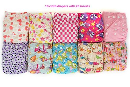 10 pack cloth diapers
